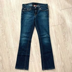 Lucky Brand Sz 6 28 Lola Boot Cut Dark Denim Jeans